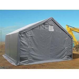 Tente de Stockage Tente Abri PRO 4x4x2x3,1m, PVC, Gris