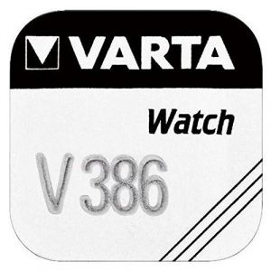 Varta V386 silver-oxide (s) 1,55 V non-rechargeable battery – non-rechargeable Batteries (silver-oxide (s), 1,55 V, 105 mAh, Silver, 11.6 mm, 11,6 mm)