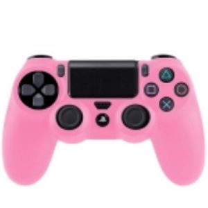 PS4 Coque Housse Silicone Manettes Rose