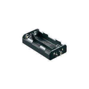 Support pile 4x R14 (C) Goobay 11457 raccord par bouton-poussoir (L x l x h) 62.5 x 55.8 x 23.5 mm