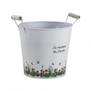 Aubry Gaspard - Cache pot zinc Je reviens du jardin