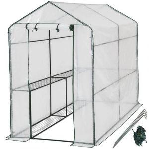 TECTAKE Serre de Jardin 2,2 m² + Bâche Armée Transparent
