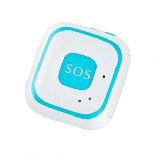 Super Mini Traceur Android Ios Gps Collier Gsm Wifi Agps Communication Sos Bleu - Yonis