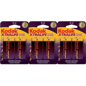 KODAK - Piles - XTRALIFE Alcaline - D / LR20 - lot de 6