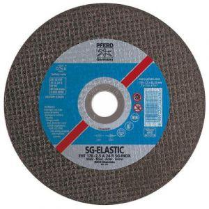 Disque à tronçonner SG-ELASTIC-INOX pour l'usinage de l'acier inoxydable, Ø x Épais. : 125 x 2,4 mm, Modèle Coudé, Vitesse maxi. 12200 tr/mn