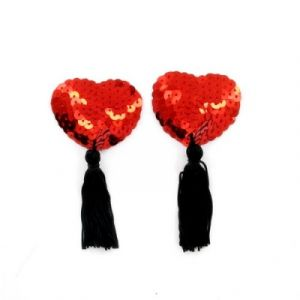 Dyta nippies coeur à sequins Rouge