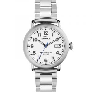 Montre Homme Shinola Runwell 41mm Stainless Steel 3 Link S0120001110