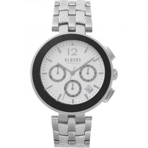 Montre Homme Versus Versace Logo Silver Dial On A Stainless Steel Bracelet Watch VSP762418