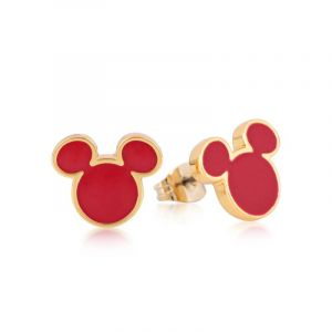 Bijoux Disney Couture Mickey Mouse Anniversary Red Enamel Stud Boucles d'oreilles DYE385
