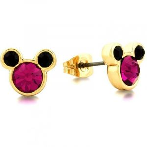 Bijoux Femme Disney Couture Minnie Mickey Mouse Pink Crystal Stud Boucles d'oreilles DYE0830