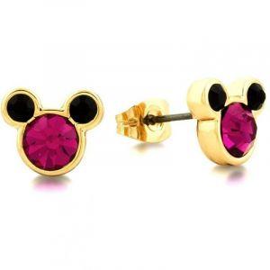 Bijoux Femme Disney Couture Minnie Mickey Mouse Pink Crystal Stud Boucles d'oreilles DYE0830