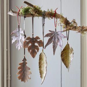 Lot de decorations de feuilles Merel