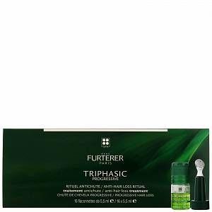 Rene Furterer - Triphasic VHT Anti-Hair Loss Ritual: Regenerating Serum for Hair Loss 16 x 5.5ml for Women