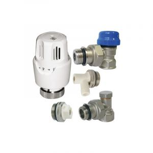 Kit thermostatique equerre 15/21 tête à dilation de cire - somatherm