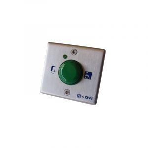 Bouton poussoir choc plaque inox + câbles - cdvi
