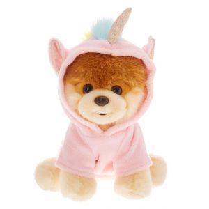 Claire's Grande peluche Boo licorne Boo The World's Cutest Dog™ - Rose