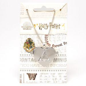 Claire's Collier à médaillon Reliques de la Mort Harry Potter™ – Couleur argentée
