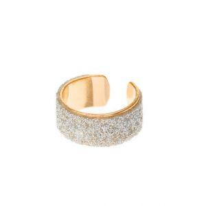 Claire's Manchette d'oreille couleur dorée avec paillettes couleur argentés