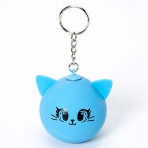 Claire's Porte-clés balle anti-stress chat - Bleu