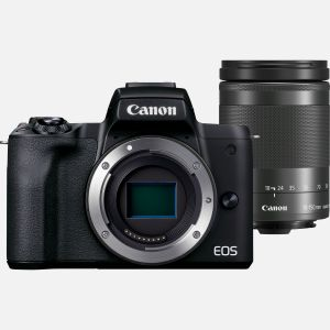 Appareil photo hybride Canon EOS M50 Mark II noir + objectif EF-M 18-150mm f/3.5-6.3 IS STM graphite