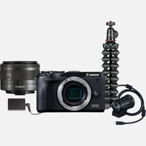 Kit de vidéo conférence Canon EOS M6 Mark II avec objectif interchangeable