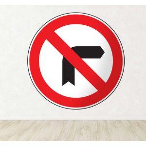 Sticker panneau virage interdit