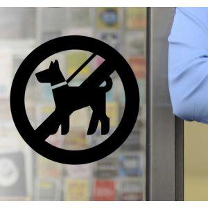 Sticker panneau interdit silhouette