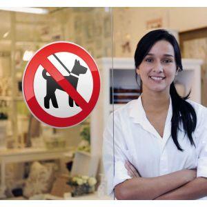 Sticker panneau interdit chiens