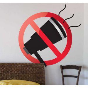 Sticker panneau interdit crier