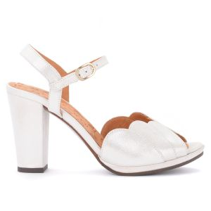 Sandale à talon Chie Mihara Adita ien suède argenté