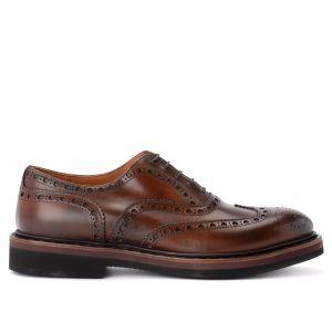 Chaussure à lacets Premiata 31116 en cuir brossé de couleur prune
