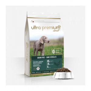 12 kg Croquettes Sans Céréales - Natural Hunter - Chien Adulte - Moyen - Ultra Premium Direct/Natura Plus Ultra