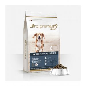 12kg Croquettes Super Premium - Saumon/Riz - Chien Adulte - Ultra Premium Direct
