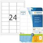 Herma Premium Papier Laser pour Imprimante Laser Jet d'encre/Imprimante Couleur A4 63,5x33,9 mm 600 pages Blanc