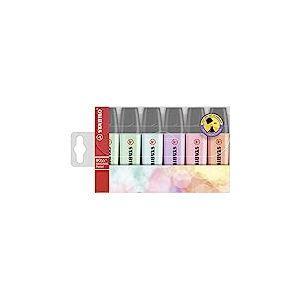 Surligneur - STABILO BOSS ORIGINAL Pastel - Pochette de 6 - Coloris pastel assortis