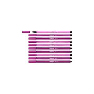 Feutre dessin - STABILO Pen 68 - Lot de 10 feutres pointe moyenne - Rose foncé (68/56)