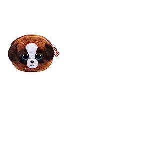 Ty- Gear Beanie Boo's-Pochette Peluche 10cm-Duke Le Chien, TY95210, Brun