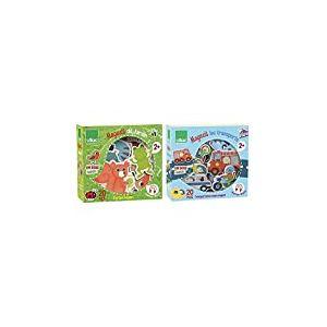 Vilac - 8026 - Jouet De Premier Age - Magnets Jardin & 8028 - Aimants Transport en Bois