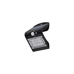 Goobay 45801 Lampe Murale Solaire LED avec détecteur de Mouvement, Verre PVC, Noir 1.5 wattsW, W, 1,5 Watt