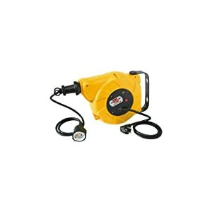 Brennenstuhl 1241020300 Enrouleur de cable automatique ip20 9+2m h05vv-f 3g1,5 Jaune