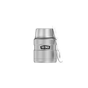 Thermos Récipient Alimentaire Isotherme Stainless King, 0,47l, Acier Inoxydable, 9,3x 9,3x 14,2cm, Acier Inoxydable, Mattiert, 9,7x9,7x14,2 cm