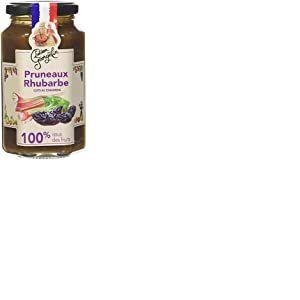 Lucien Georgelin Pruneaux Rhubarbe 100% Issu des Fruits 300g - Pack de 6