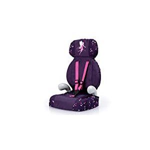 Bayer Design- Accessoire, Siège Auto pour poupée avec Ceinture, Poupon, Moderne, 67579AA, Violet, avec fée et Motif