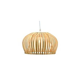 Luminaire Floral, suspension bambou, 60 W, naturel, ø 35 x H 20 cm