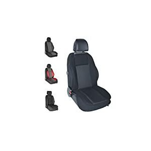 DBS - Couvre Siège - Voiture/Auto - Noir - Grand Confort - Antidérapant - Compatible Airbag - Universel