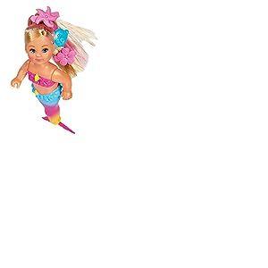 Simba 105733318 Evi Love Swimming Mermaid Evi en Forme de sirène Peut Nager correctement avec Figurine de Poisson 12 cm pour Les Enfants à partir de 3 Ans