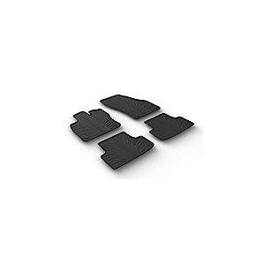 Gledring Set tapis de caoutchouc compatible avec Seat Ateca 5/2016- (T profil 4-pièces + clips de montage)