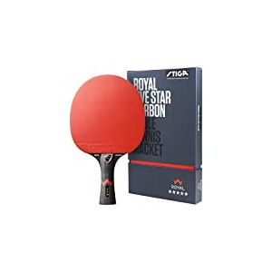 STIGA Royal Five Star Carbon Raquette de Tennis de Table Unisex-Adult, Black/Red, Taille Unique