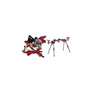 Einhell Scie à onglet radiale sans fil TE-SM36/210Li-Solo Power X-Change (lithium-ion, système de glissière, sans batterie ni chargeur) VERSION KIT avec Piètement Stationnaire MSS 1610
