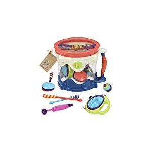 B Toys by Battat - B. Drumroll - Jeu de Batterie (avec 7 Instruments de Percussion pour Enfants)